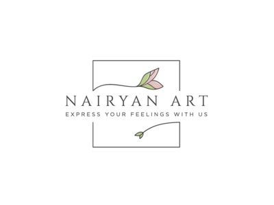Logo design for Nairyan Art armenia leaf nature vegan handmade art logo design