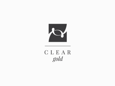 Logo design for Clear Gold icon sample innitials logo design classic cosmetics clear gold