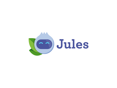 Logo & Icon redesign for Jules app smart blueberry fruit robot mobile app coach health