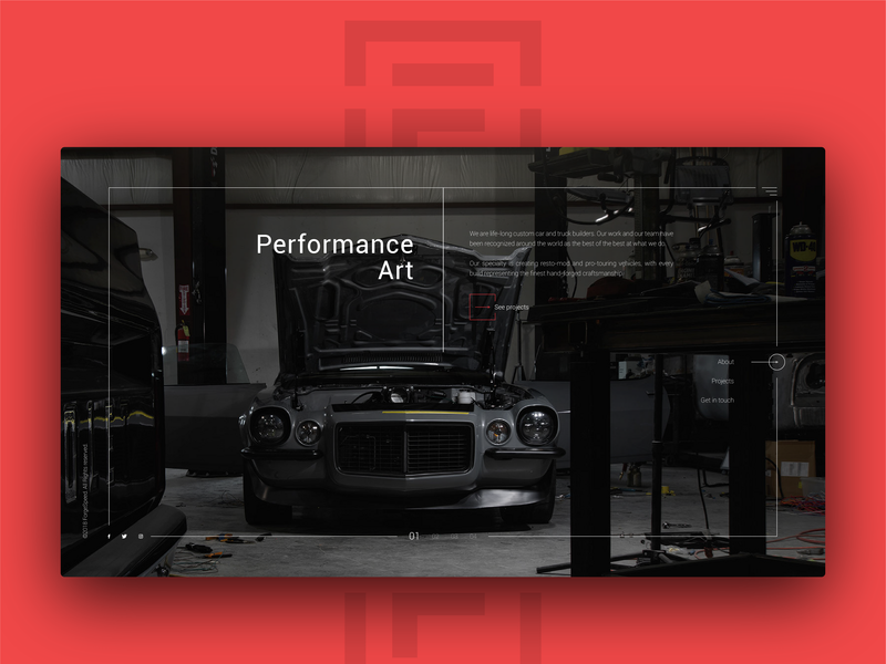 Website Design for Forge Speed creative ux ui cars speed design website