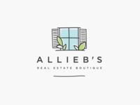 Logo design for ALLIEB'S REAL ESTATE BOUTIQUE