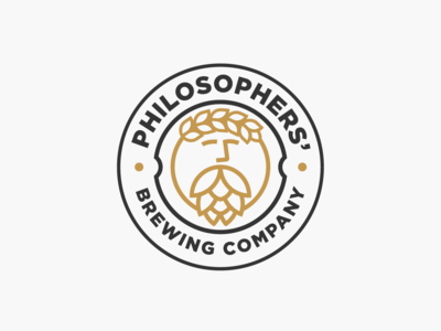 Logo design for PHILOSOPHERS' BREWING COMPANY beer brewing company brewers brewery philosophy logo dsign