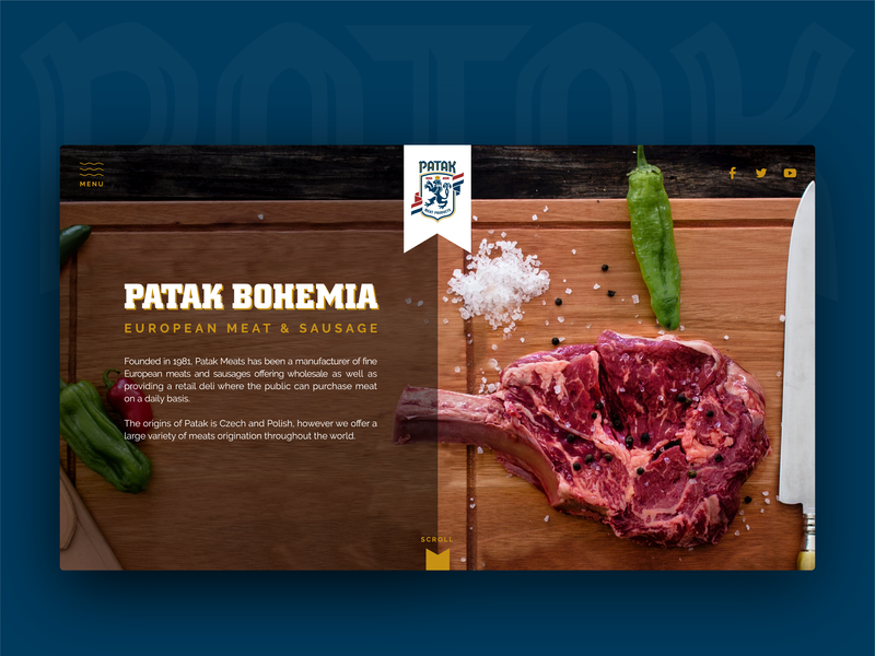 Website Design for Patak Meat Products food meat products uiux web design website