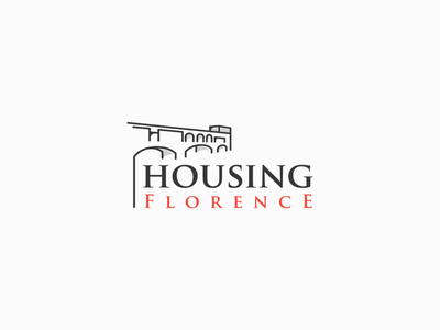Logo design for Housing Florence building bridge rent house home italy travel florence realestate housing logodesign logo logo design