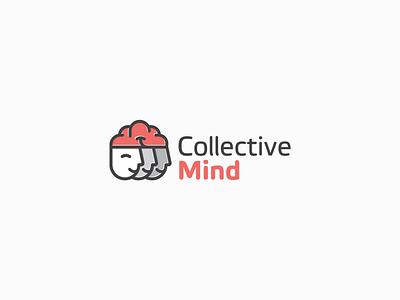 Logo Design for Collective Mind teamwork team collective thinking mind brain head logotype logo design logo