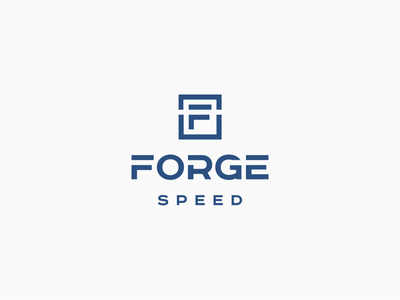 Logo design for Forge Speed styleguide style sheet logo and branding logo forge speed forge speed geometic classic car automotive logo design