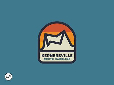 Kernersville Parks & Rec Logo thick lines badge north carolina kernersville mountains parks  recreation parks  rec outdoors