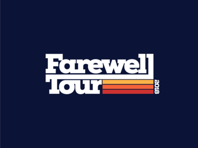 Farewell Tour Alternate thick lines north carolina nc logo mark branding tour t-shirt lockup