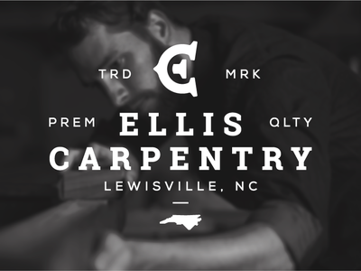 Ellis Carpentry Patch Design c e monogram identity branding logo design logo woodworking carpenter carpentry