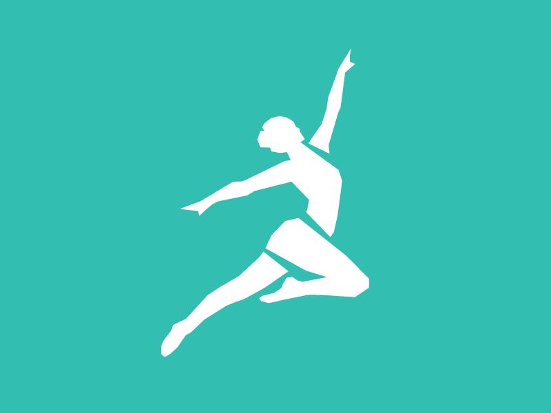 Dancer logos identity mark branding illustration dance center dancing dancer logo design logo