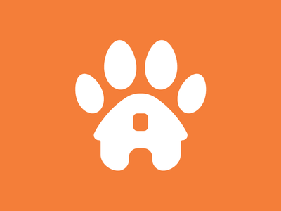 KMC Pet Sitting Identity icon dog pets paw paw print identity logo design branding logo