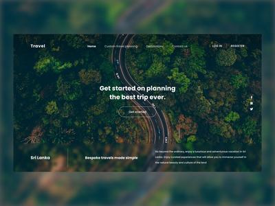 Travel agent concept