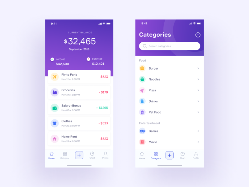 expense tracker by imtiaz hossain dribbble dribbble