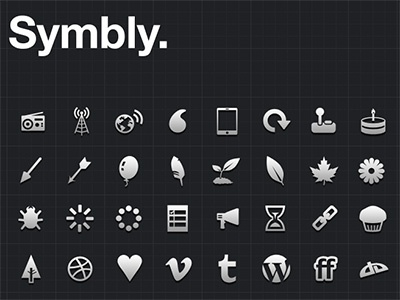 New Symbly Icons icons glyphs mono mobile app icon