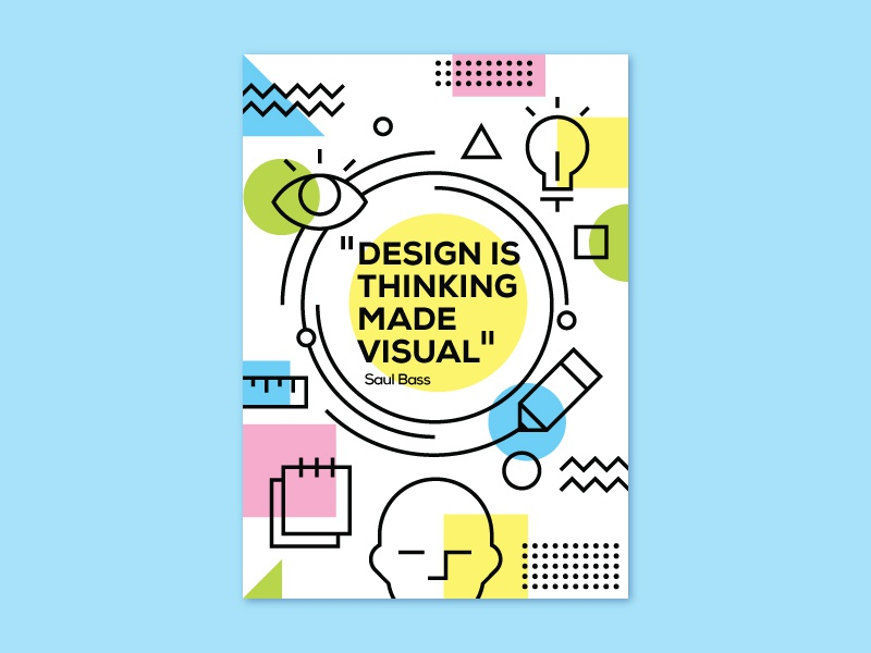 Poster geometic shapes abstract illustration poster