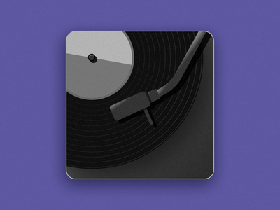 Music App Icon daily ui illustration music record application icon app