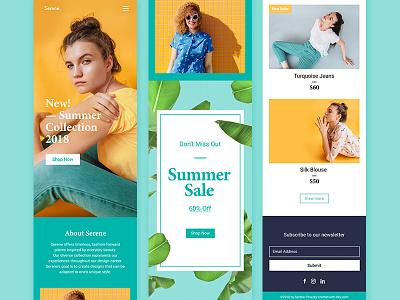 Serene Fashion Site sale store colourful summer mobile fashion