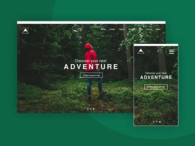 Adventure V2 responsive natureboy nature mobile desktop