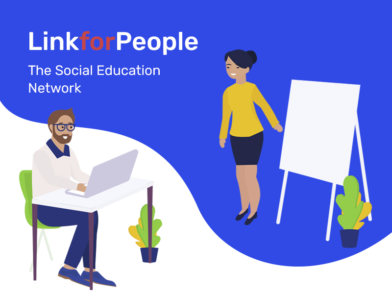 The illustration for social education network