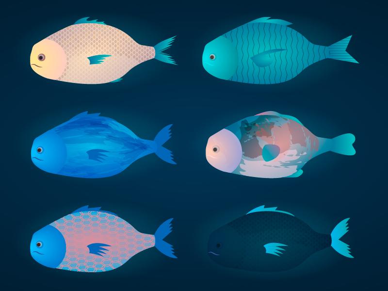 Fishes fantastic vector fish illustration