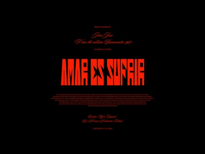 AMAR ES SUFRIR personal music vector type adobe illustrator adobe photoshop typography graphic design