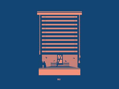 Rear Window graphic graphicdesign design illustrator illustration vector vectorart logo logos alfredhitchcock
