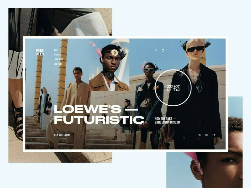 RBXD Concept Design design futuristic homepage web ui ux