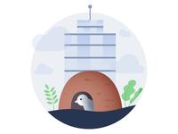 Building bird