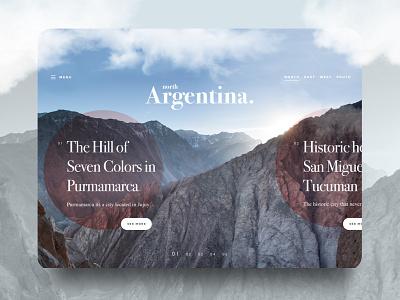 Argentina Web Tourism Concept website web ux ui typography simple layout homepage form design clean argentina