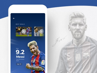 Football App Concept website web ux ui typography messi football hotel homepage form design clean