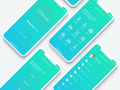 Educational App Language teach ux world minimal app clean design ui mobile education app learn ui  ux 2019