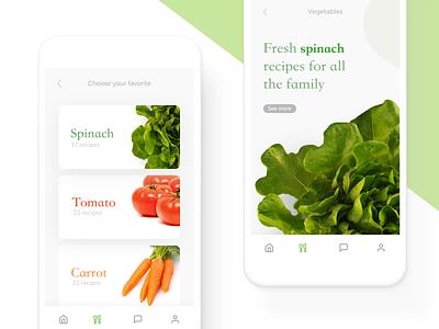 Organic Healthy Market App food app health app healthy design interaction mobile ux clean ui