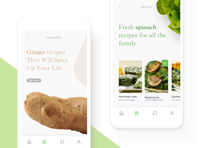 Organic Healthy Market App food app health app design mobile app ux clean ui