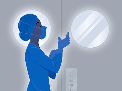 nurse disease virus illustration vector hospital pandemic covid19 nurse