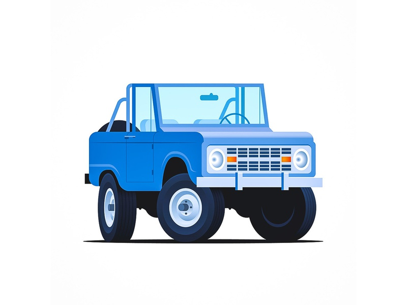 Bronco retro vintage classic car illustration vector