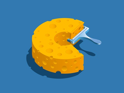 Cheese food cutter cheese