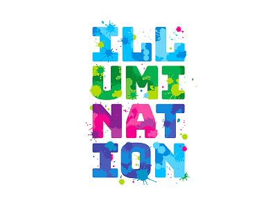 Illumination typography wordmark