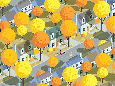Autumn autumn leaves walking dog suburbs fall autumn