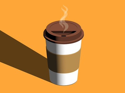 Breakfast isometric vector paper cup coffee breakfast