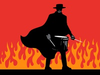 Drumming Zorro