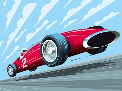 Vintage Formula 1 Car speed formula 1 vector vintage racing