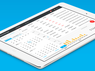 Expense Manager (PWA design) material design user interface progressive web app ui app responsive table grid data datepicker pwa vaadin