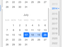 Responsive combo box and date picker components
