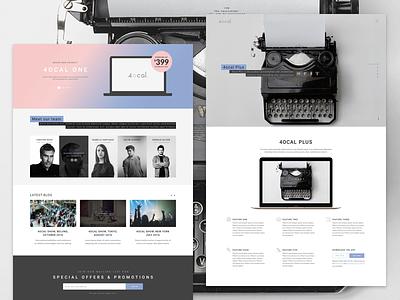 4ocal Landing page 05 layouts cards ui kit website webdesign web ui landing