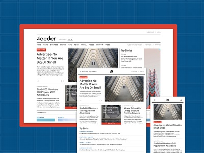 4eeder V2 Landing 01 adobe xd blog editorial publication news layouts ui kit website webdesign web ui landing