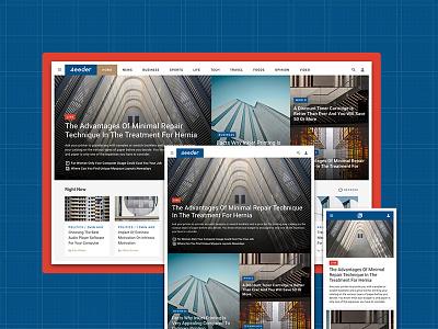 4eeder V2 Landing 04 adobe xd blog editorial publication news layouts ui kit website webdesign web ui landing