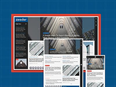 4eeder V2 Landing 05 adobe xd blog editorial publication news layouts ui kit website webdesign web ui landing
