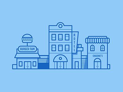 veri professional illustrator vector design flat professional restaurant burger market hotel town city business