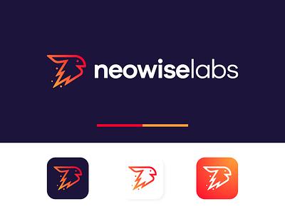 Neowiselabs lab rabbit neowise comet app icons logo design design brandmark debut icon logo