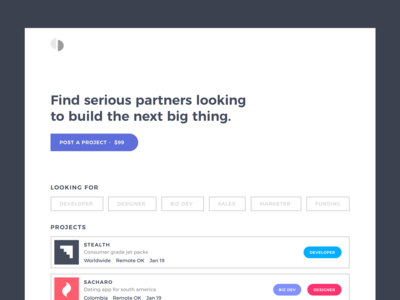 Serious  - Cofounder & Project Marketplace